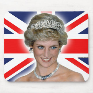 HRH Princess Diana Union Jack Mouse Mat