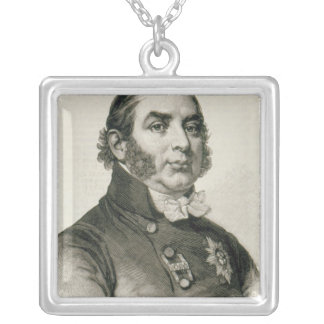 HRH The Duke of Kent, the Queen's Father Square Pendant Necklace