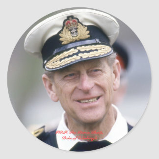 HRH The Prince Philip, Duke of Edinburgh Round Sticker