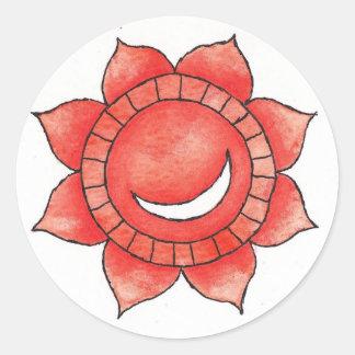 Hrit Chakra Sticker