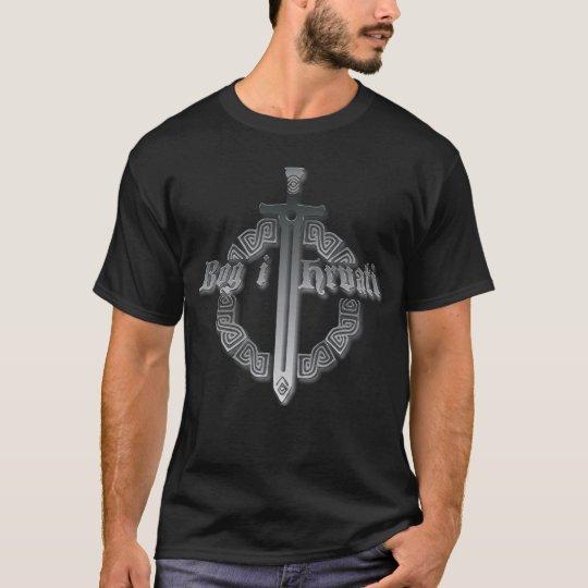 Hrvatska bog i hrvati relief 3D Croatia T-Shirt