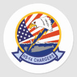 HS-14 Chargers Classic Round Sticker