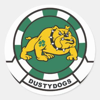 HS-7 Dustydogs Round Sticker