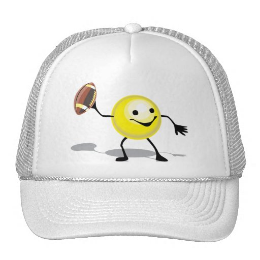 HSFST HAPPY SMILY FACE FOOTBALL SPORTS LOGO ICON C HAT