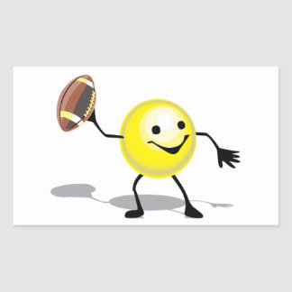 HSFST HAPPY SMILY FACE FOOTBALL SPORTS LOGO ICON C STICKERS