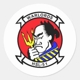 HSL-51 Warlords Round Sticker