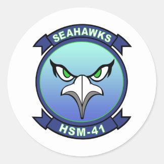 HSM-41 Seahawks Round Sticker