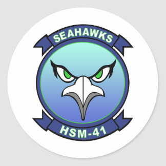 HSM-41 Seahawks Round Stickers