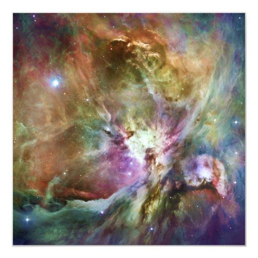 HST Orion Nebula Messier 42 M42 NGC 1976 13 Cm X 13 Cm Square Invitation Card