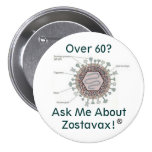 hsv1structure, Over 60? Ask Me About Zostavax! Buttons
