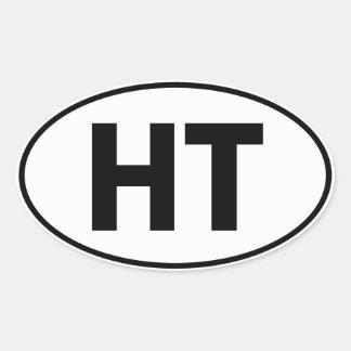 HT Oval Identity Sign Sticker