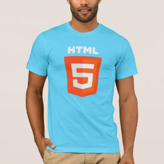 HTML5 T-shirt on Blue Shirt