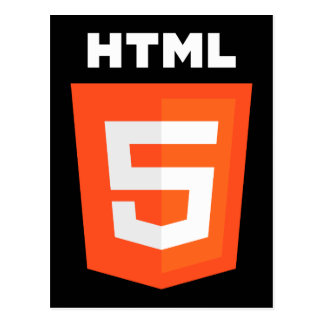 HTML 5 Logo Postcard