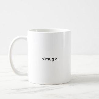 HTML Coder's Mug, <mug></mug> Basic White Mug