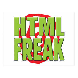 HTML Freak G Postcard