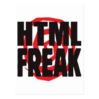 HTML Freak Postcards
