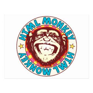 HTML Monkey Postcard