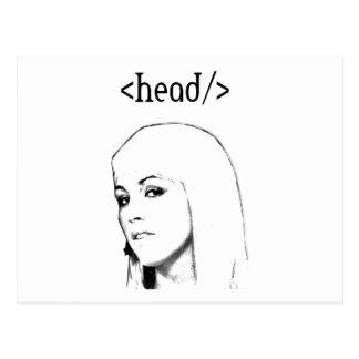 Html table head postcard