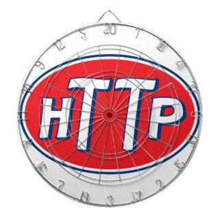 HTTP Webmaster Parody Logo Dartboard With Darts