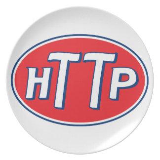 HTTP Webmaster Parody Logo Dinner Plate