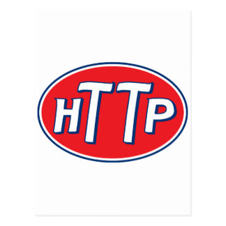 HTTP Webmaster Parody Logo Postcard