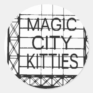 http://www.zazzle.com/magiccitykitties round sticker