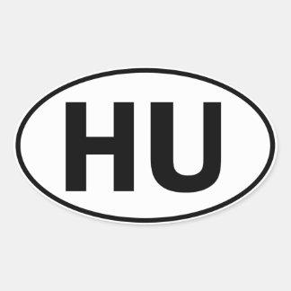 HU Oval Identity Sign Oval Sticker
