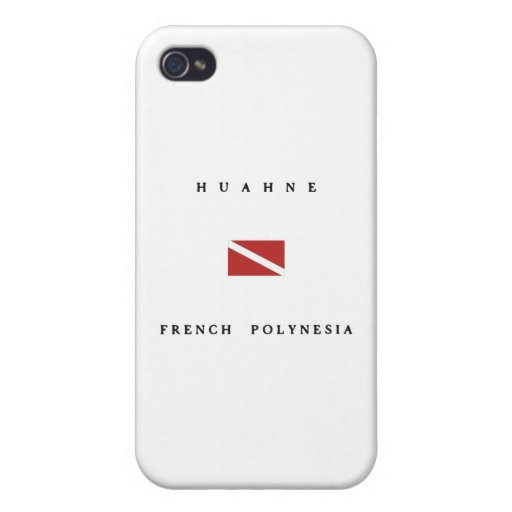 Huahne French Polynesia Scuba Dive Flag iPhone 4/4S Cover