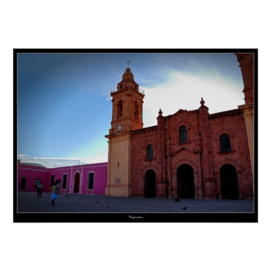 Huajuapan Oaxaca Chatedral poster