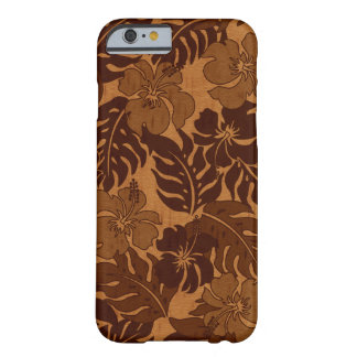 Huakini Bay Hawaiian Hibiscus Vintage Faux Wood Barely There iPhone 6 Case