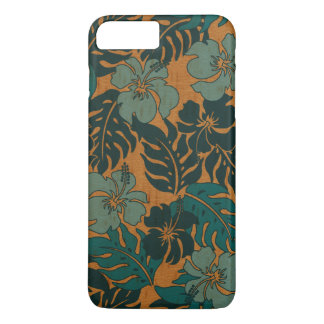 Huakini Bay Hawaiian Hibiscus Vintage Faux Wood iPhone 8 Plus/7 Plus Case