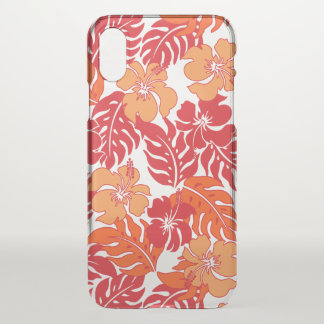 Huakini Bay Hawaiian Hibiscus Vintage Floral -Red iPhone X Case