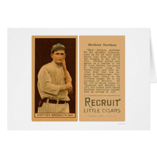 Hub Northen Dodgers Baseball 1912 Card
