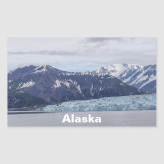 Hubbard Glacier Rectangular Sticker