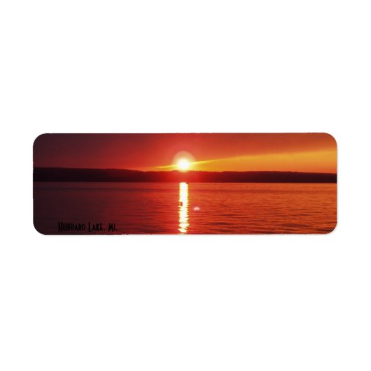 Hubbard Lake Sunset Return Address Label