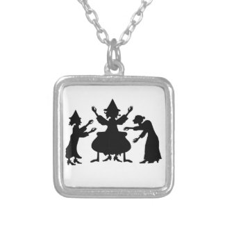 Hubble Bubble Witches Silver Plated Necklace