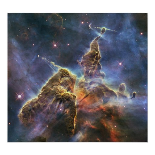 """Hubble captures view of """"Mystic Mountain"""" Posters"""