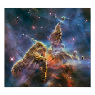 Hubble Captures View of 'Mystic Mountain' Print
