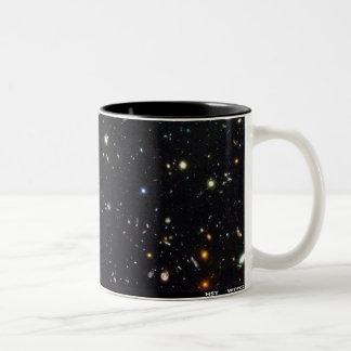 Hubble Deep Field mug. Two-Tone Mug