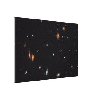Hubble- Galaxies Across Space and Time Gallery Wrap Canvas
