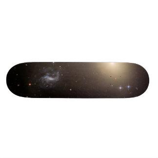 Hubble Illuminates Cluster of Diverse Galaxies Custom Skateboard