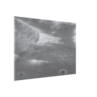 Hubble Image Overlaid on Modeling of Apollo 17 Lan Gallery Wrap Canvas