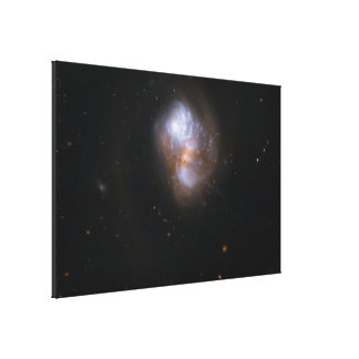 Hubble Interacting Galaxy IC 1623 Stretched Canvas Print