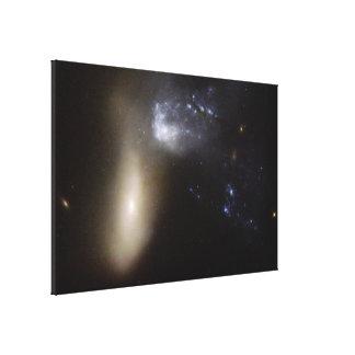 Hubble Interacting Galaxy NGC 454 Canvas Print