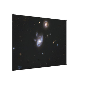 Hubble Interacting Galaxy Stretched Canvas Prints