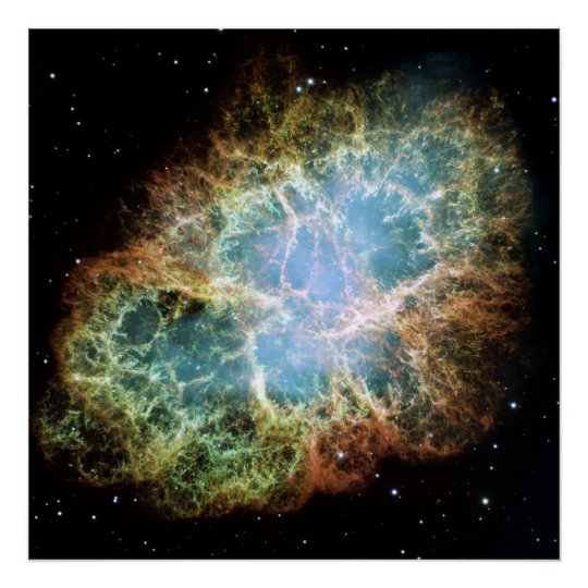 Hubble Mosaic of the Crab Nebula Poster