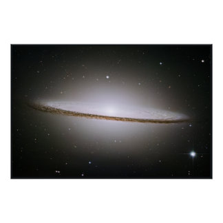 Hubble Mosaic of the Majestic Sombrero Galaxy Poster