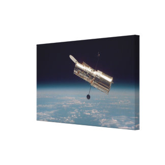 Hubble over Earth 3 Stretched Canvas Prints