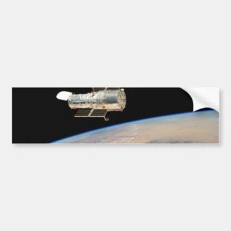 Hubble over Earth Car Bumper Sticker