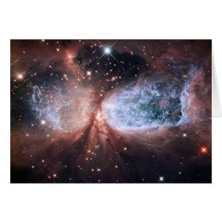 Hubble Snow Angel Card